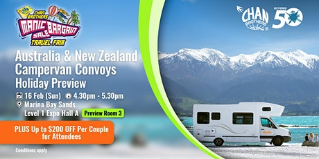 Australia & New Zealand Campervan Convoys Holiday Preview tickets