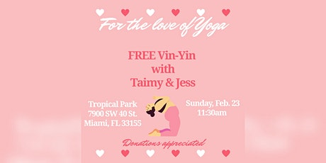 """For the love of Yoga"" Free Vin-Yin yoga tickets"