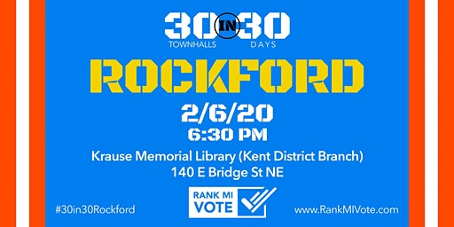 Rockford: 30 in 30 Ranked Choice Voting Town Hall