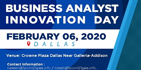 Business Analyst Innovation Day|Dallas|06 Feb 2020 tickets