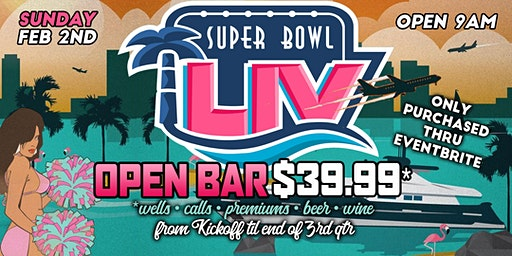 Super Bowl 54 at Sandbar