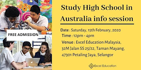 Study High School in Australia Info Session tickets
