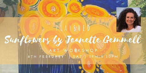 Sunflower Art Workshop with Jeanette Gemmell