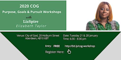 2020 COG Purpose, Goals & Pursuit Workshops with Elizabeth Taylor