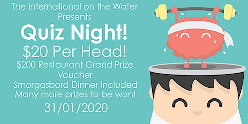 Quiz Night at the International on the Water