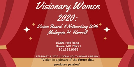 Visionary Women 2020: Vision Board & Networking with Malaysia Harrell & Donnita Fowler tickets