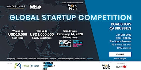 Global Startup Competition - Brussels roadshow - AngelHub & WHub billets