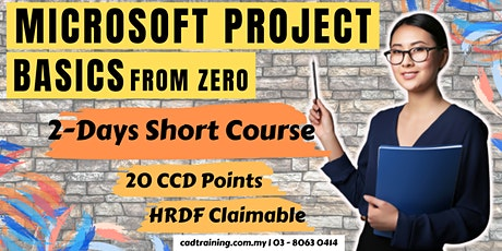 Microsoft Project Basics | 2-day Short Course | 20 CCD CIDB points tickets