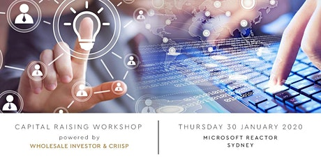 Sydney Capital Raising Workshop tickets