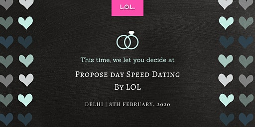 Propose Day Speed Dating DEL Feb 8