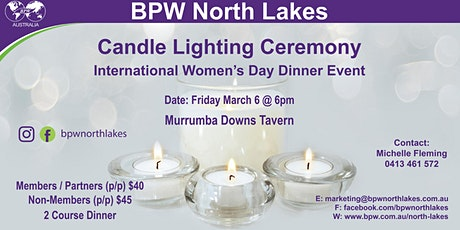 BPW North Lakes Candle Lighting Ceremony tickets