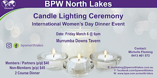 BPW North Lakes Candle Lighting Ceremony