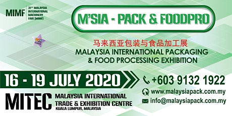 Malaysia International Packaging & Food Processing Exhibition tickets