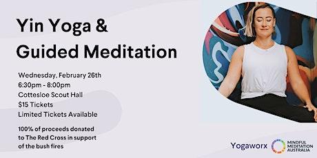 Yin Yoga & Guided Meditation | Bushfires Fundraiser tickets