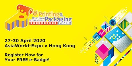 Hong Kong International Printing & Packaging Fair tickets