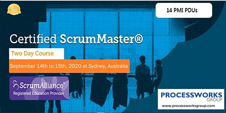 Certified ScrumMaster® (CSM) Course [2 Days Certification Course] on 14-15 Sept 2020 tickets