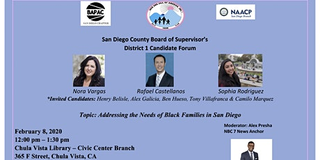 San Diego County Board of Supervisors District 1 Candidate Forum tickets
