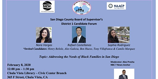 San Diego County Board of Supervisors District 1 Candidate Forum