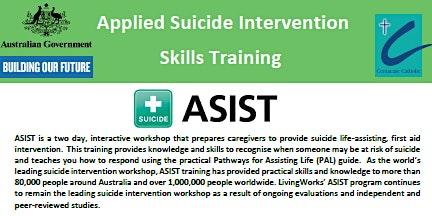 FREE Applied Suicide Intervention Skills Training (ASIST)Workshop