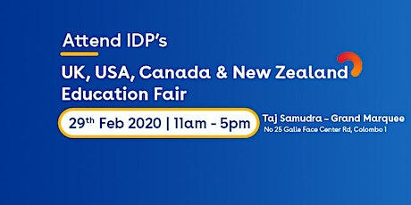 Attend Multi Destination Education Fair 2020 at Colombo tickets