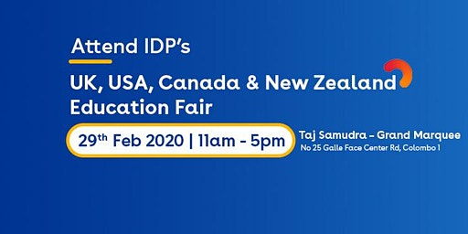 Attend Multi Destination Education Fair 2020 at Colombo