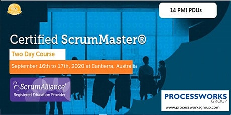 Certified ScrumMaster® (CSM) Course [2 Days Certification Course] on 16-17 Sept 2020 tickets