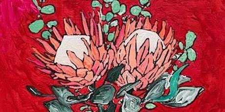 Fire Fundraiser- Protea Vase (social art class) tickets