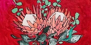Fire Fundraiser- Protea Vase (social art class)