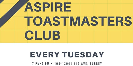 ASPIRE Toastmasters Club at MFBCS tickets