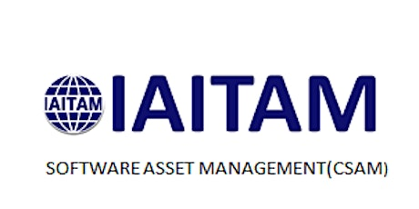 IAITAM Software Asset Management (CSAM) 2 Days Virtual Live Training in Ghent tickets