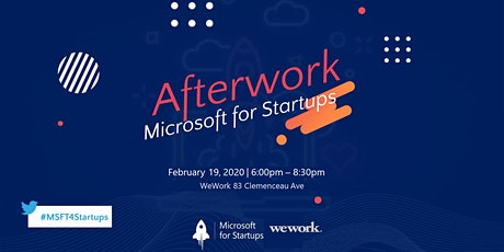 Microsoft for Startups presents Afterwork: tech-first startups tickets