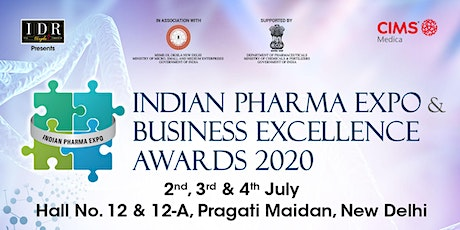 INDIAN PHARMA EXPO & BUSINESS EXCELLENCE AWARDS 2020 tickets