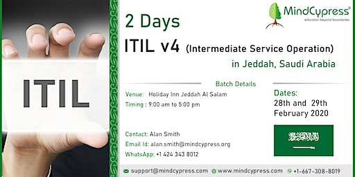 Join 2 Days ITIL Workshop in Jeddah, Saudi Arabia