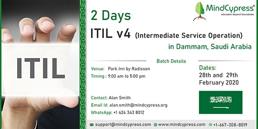 Join 2 Days ITIL Workshop in Dammam, Saudi Arabia