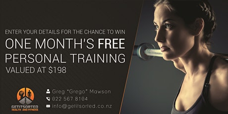 Win one month's Free Personal Training package Valued at over $250! tickets