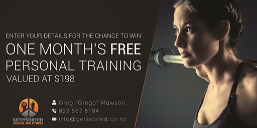 Win one month's Free Personal Training package Valued at over $250!