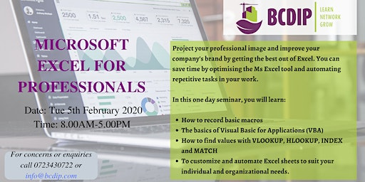 MS Excel for Professionals Course