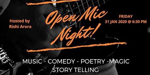 OPEN MIC NIGHT @  The Chettinad