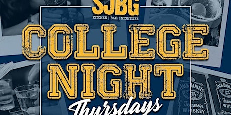 College Thursday's at SJBG tickets