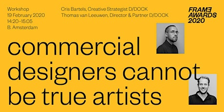 Commercial designers cannot be true artists tickets