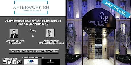 AfterWorkRH Aix-Marseille - 20 février 2020 - Comment faire de la culture d'entreprise un levier de performance? billets