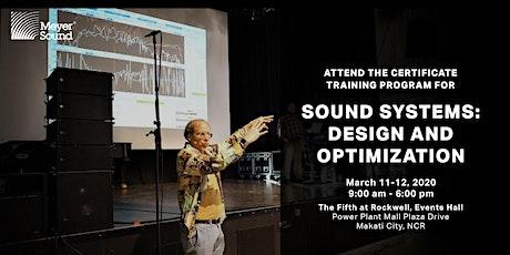 Sound System Design & Optimization Training tickets