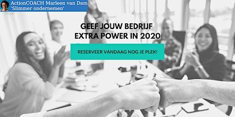 Geef jouw bedrijf extra power  in 2020 tickets
