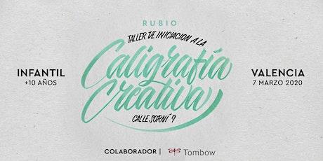 ✍️ Taller INFANTIL de Caligrafía Creativa. RUBIO - 7marzo  - Valencia entradas