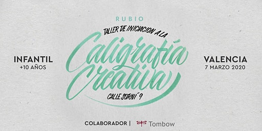 ✍️ Taller INFANTIL de Caligrafía Creativa. RUBIO - 7marzo  - Valencia