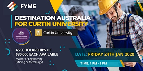 Destination Australia Scholarships with Curtin tickets