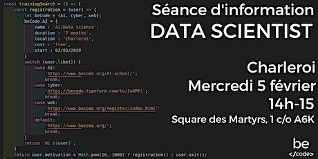 Séance d'information-Data Scientist-Charleroi billets