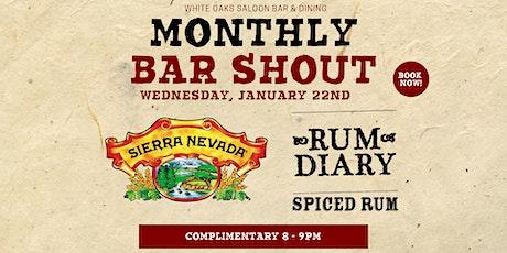 Free Beer & Rum Shout! Sierra Nevada & Rum Diary Spiced Rum tickets