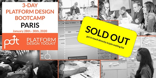 The Platform Design Toolkit 3-Day Bootcamp - Paris:  28th - 30th January
