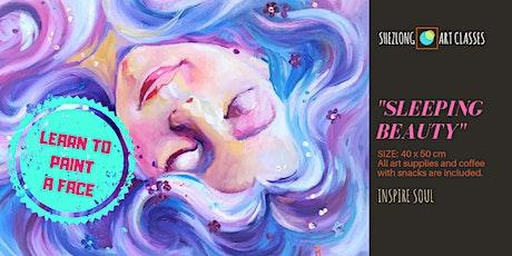 """SLEEPING BEAUTY""- social painting workshop tickets"